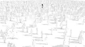 3D people crowd Royalty Free Stock Photos