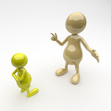 3D People Father and Son Stock Image