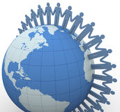 3d people global communication Stock Photography