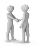 3d people greeting. 3d image. Isolated white background Royalty Free Stock Images