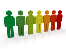 3d people group Royalty Free Stock Images