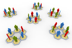 3d people group. 3d group of people. Concept of social network Stock Photography