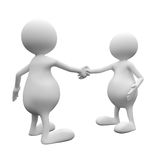 3D People Handshake. On White Baclground Business Concept Royalty Free Stock Photography