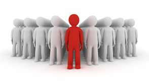 3d people icon leadership Royalty Free Stock Photo