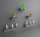 3D People leadership Royalty Free Stock Image