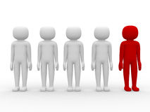 3d people - leadership and team Royalty Free Stock Images