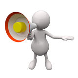 3D People With Megaphone. On White Background Stock Image