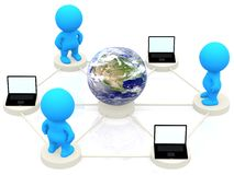 3D people networking Stock Image