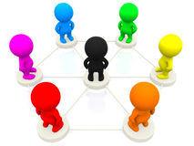 3D people networking Stock Photography