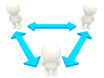 3D people networking Stock Images