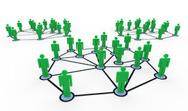3d people networks Royalty Free Stock Images