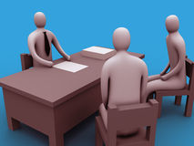 3d people in an office.  stock illustration