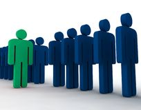 Free 3d People - Outsider Royalty Free Stock Photo - 5290885