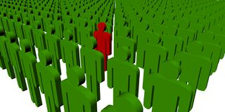 Free 3d People - Outsider Stock Photos - 6323443