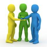 3d people partner. royalty free illustration