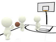 3D people playing basketball Royalty Free Stock Photography