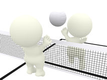 3D people playing volleyball Stock Image