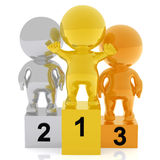 3d people in a podium Stock Photography