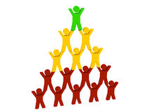 3d people pyramid Στοκ εικόνες με δικαίωμα ελεύθερης χρήσης