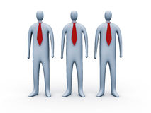 3d people with red ties. Three 3d people with red ties Stock Images