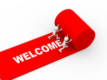 Free 3d People Rolling Red Welcome Carpet Stock Photos - 48609773