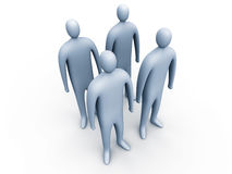 3d people standing #1.  Royalty Free Illustration