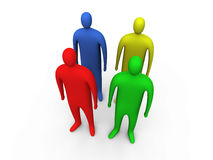 3d people standing #2.  royalty free illustration