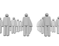 3d People Team Group Royalty Free Stock Photography