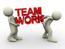 3d people teamwork Stock Image