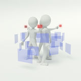 3d people working in the group Royalty Free Stock Photography