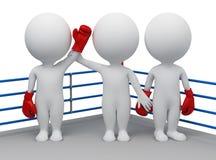 3d pequeña gente - opción del ganador stock de ilustración