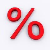 3d percent sign Stock Photo