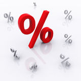 3d Percent Sign Royalty Free Stock Photos