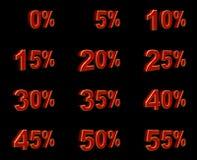 3d percentagetekens Vector Illustratie