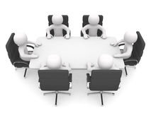 Free 3d Person At A Conference Table. Leadership And Team Royalty Free Stock Photos - 24050178