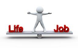 3d person balancing life and job Royalty Free Stock Photo