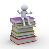 3d person with books Stock Photos