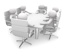 3d person at a conference table Royalty Free Stock Images