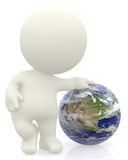 3D person with the Earth Royalty Free Stock Images