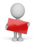 3d person - envelope Stock Photos