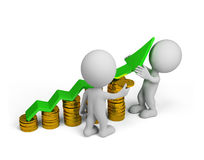 3d person - financial success Stock Photo