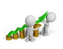 3d person - finansiell framgång Arkivfoto