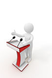 3d person giving a speech Royalty Free Stock Photography
