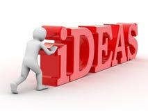 3d person and inscription idea Stock Image