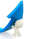 3D person lifting an arrow Stock Photography