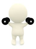 3D person lifting weights Royalty Free Stock Photography