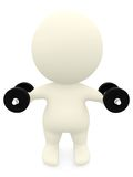 3D person lifting weights Royalty Free Stock Photo