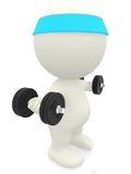 3D person lifting weights Stock Photos