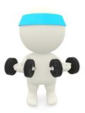 3D person lifting weights Royalty Free Stock Images