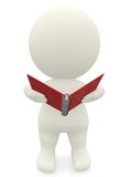 3D person with a notebook Royalty Free Stock Photography